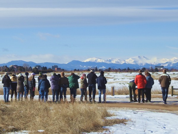 A group of us birding at Cherry Creek State Park