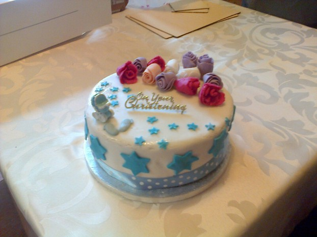 Baptism cake for my cousin's grandchild