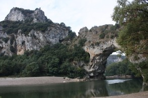 Pont d'Arc and the Ardeche River