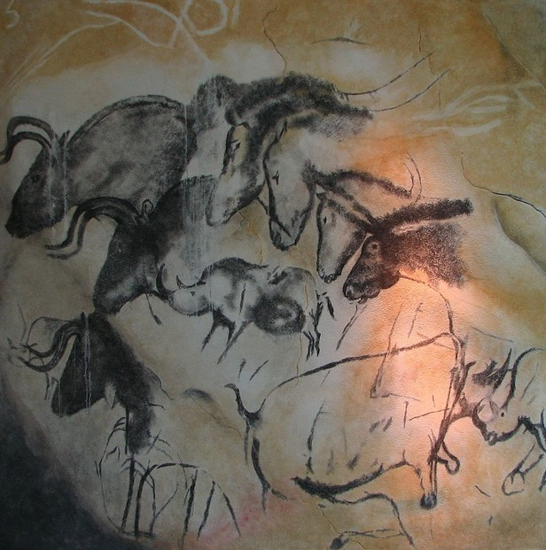 Four Horses in Chauvet Cave