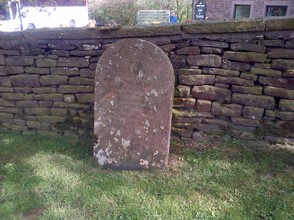 Burial stone in Quaker ground