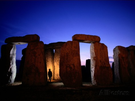 Twilight View of the Famous Ruin of Stonehenge by Richard Nowitz