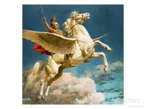 Pegasus, the Winged Horse  by Fortunino Matania