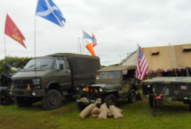 WW2 jeeps and vans
