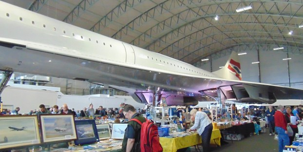 The craft fair around Concorde