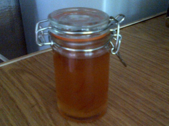 Home made marmelade in useful jar as a wedding favour