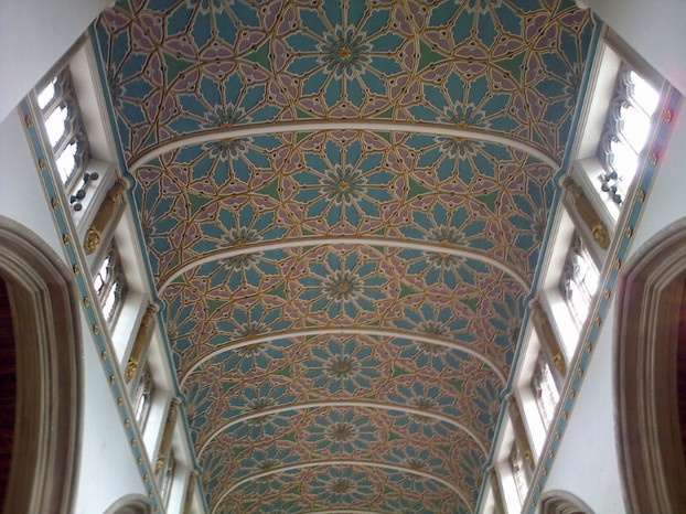 The nave ceiling is beautiful.
