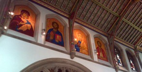 Icons of Our Lady, St Cedd and others