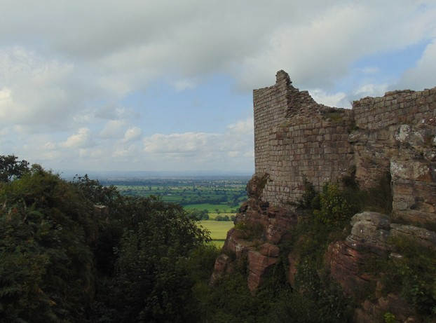 the ruins of Beeston Castle