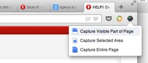 Opera capture screenshot