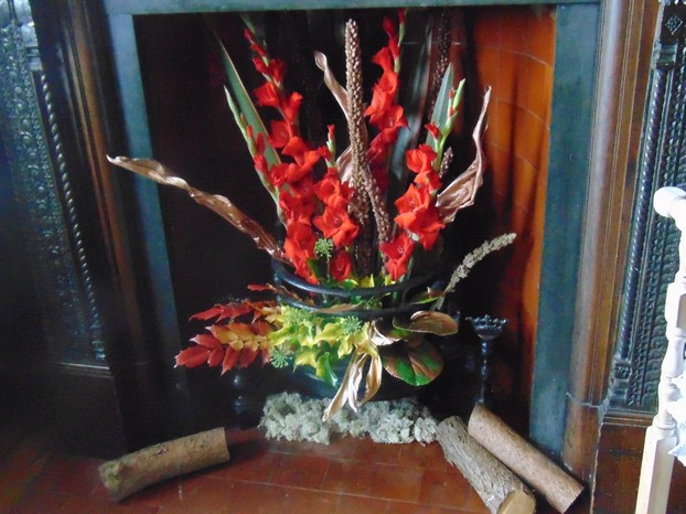 Gladiolas as flames