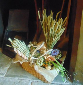 fireplace flowers