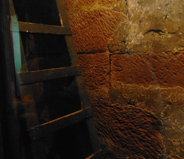 SECRET priest hole and ladder INSIDE the wall