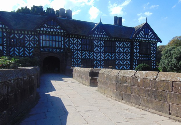 Speke Hall over the bridge over the former moat
