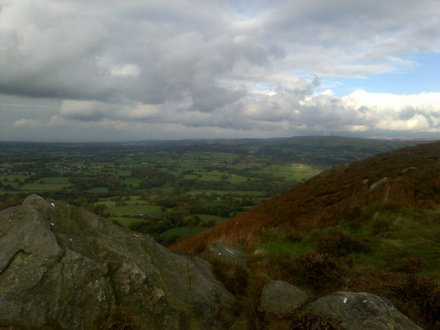 The view of the Cheshire Plain