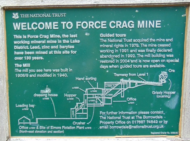 a map of the old mine