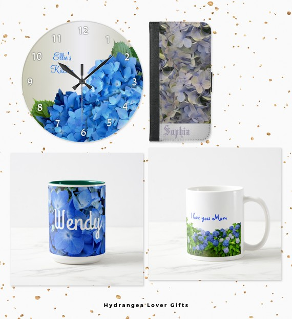 Gifts with Hydrangea Flowers