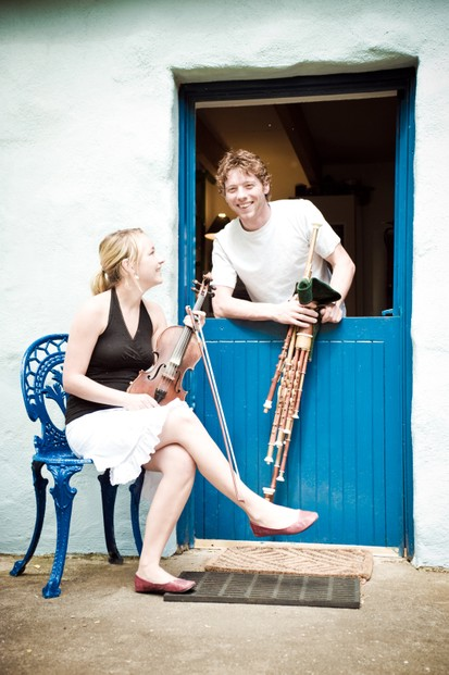 Sophie Lavoie (L) and Fiachra O'Regan (R)
