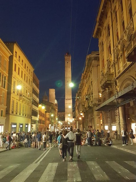 Bologna at night
