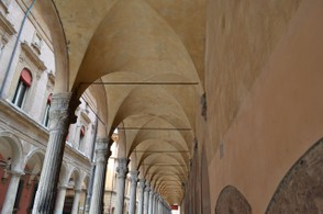 The covered porticos of Bologna will keep you safe from the elements, and are visually impressive.