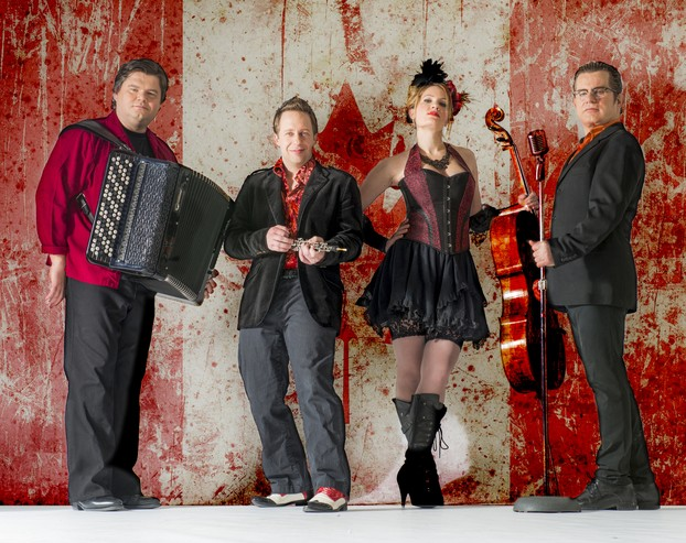 Quartetto Gelato (from L to R): Alexander Sevastian, Colin Maier, Liza McLellan, Peter Sotto
