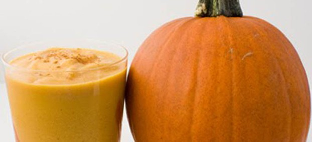 Cut up your pumpkin and enjoy a tasty healthy pumpkin smoothie