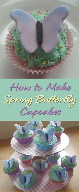 How to Make Butterfly Fondant Cupcakes for Easter and Spring Easy to Make Edible Butterflies Cupcake Design