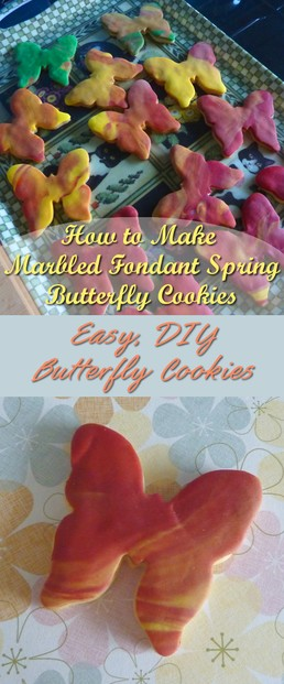 How to Decorate Butterfly Cookies with Fondant Icing Easy and Fun to Make Tutorial Instructions