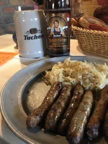 Nuremberg beer and Nuremberg sausages