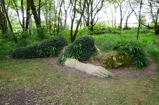 Sculpture at Heligan