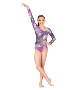 Diamonds in the Sky  Long Sleeve Leotard