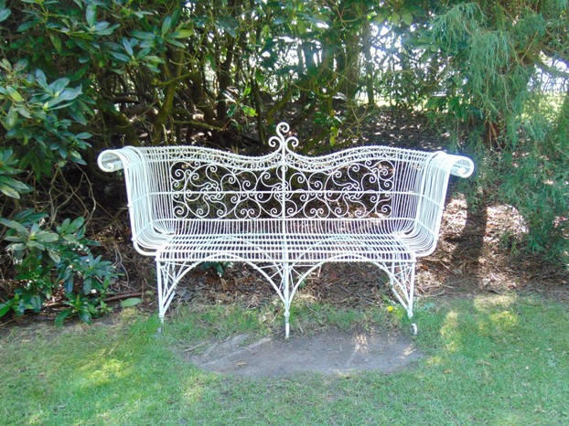 elegant benches around the grounds