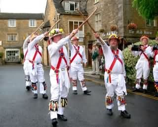 Traditional British dancers