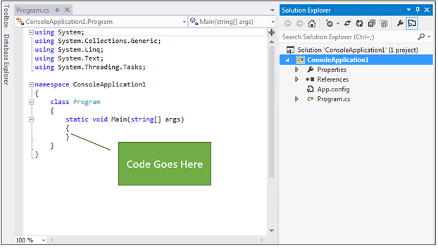 visual studio IDE