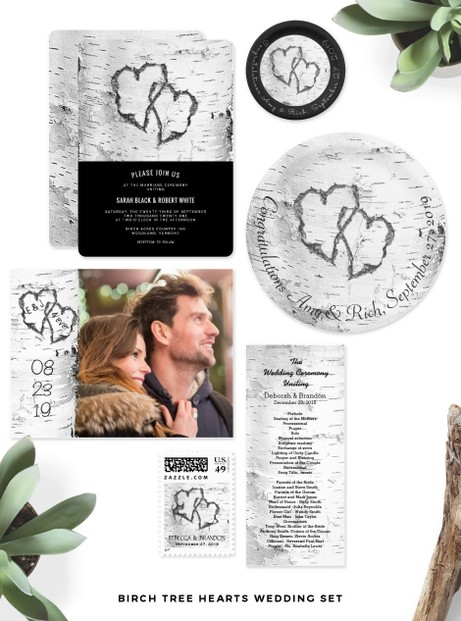Birch Bark Wedding Set
