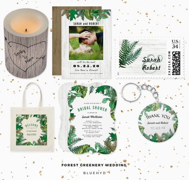 Forest Greenery Wedding Set