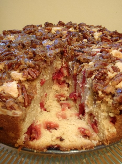 Cranberry Cake With Pecan Topping