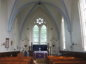 Inside Newtown's 19th century church.  This tiny, hamlet once sent two MPs to Parliament.
