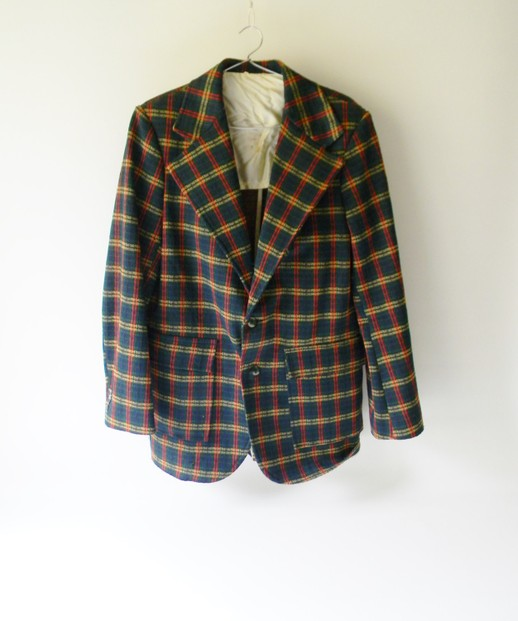 Plaid Suit Coat