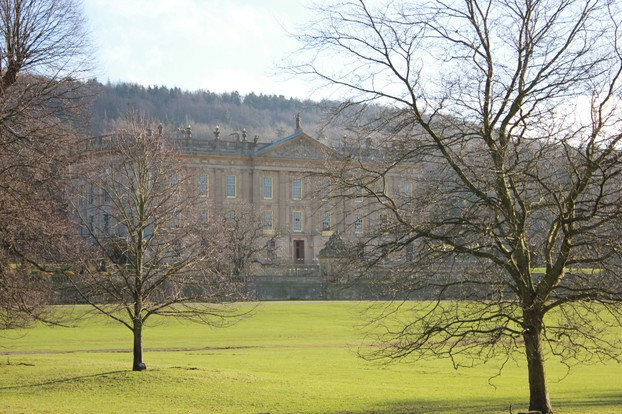 Chatsworth House, in whose grounds the flower show is held