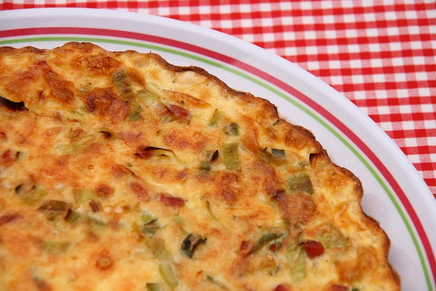 Bacon and Swiss Cheese Quiche