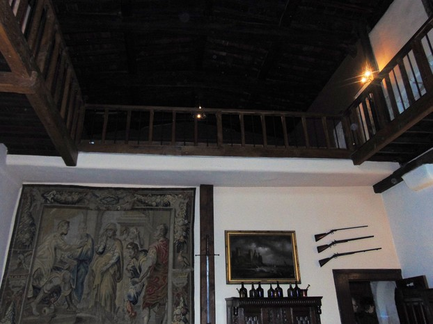 Ancient dining room and minstral gallery above