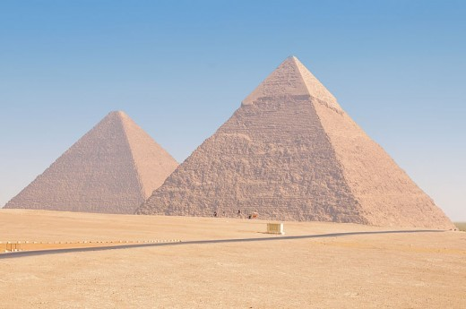 Pyramids of Cheops (left) and Chephren (right) by Ed Yourdon
