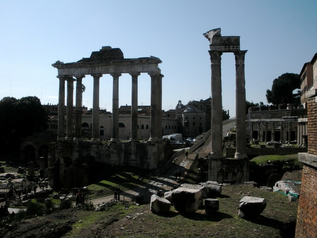 A view of the Roman Forum: One of the major attractions of the city.