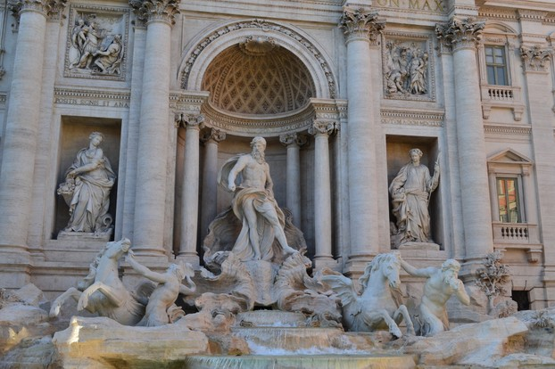 The Trevi Fountain - always crowded with tourists, day and night