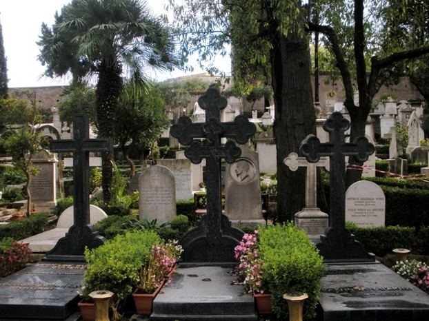 The Protestant Cemetery in Rome is worth a visit for some quiet, reflective time.