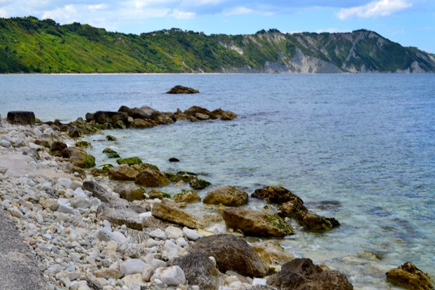 The rocks at Portonovo Beach and surrounding natural beauty.