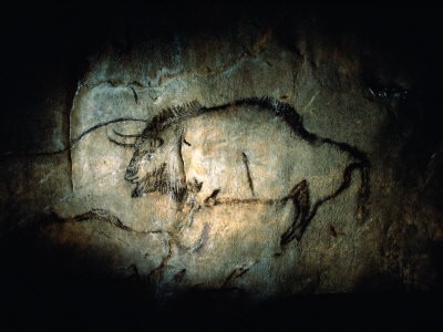View of a Bison Painted at Lascaux Approximately 17,000 Years Ago, By Sisse Brimberg