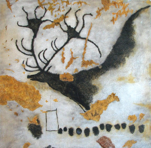 A painting of the Giant Deer from Lascaux.