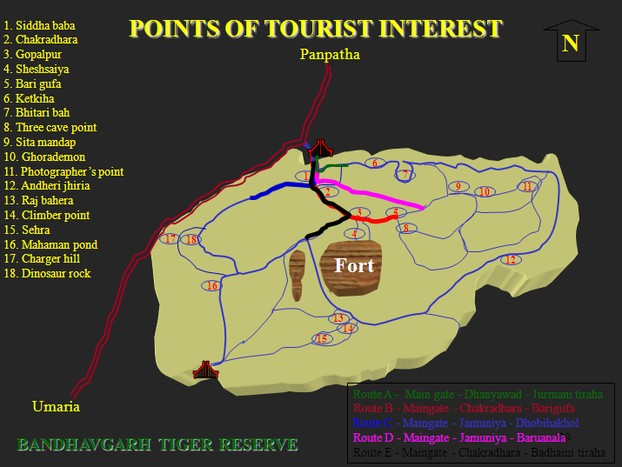 Map Bandhavgarh